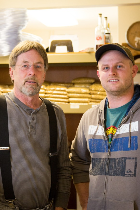 Larry and Trevor Lawrence of NW Brewers Supply by Jessamyn Tuttle